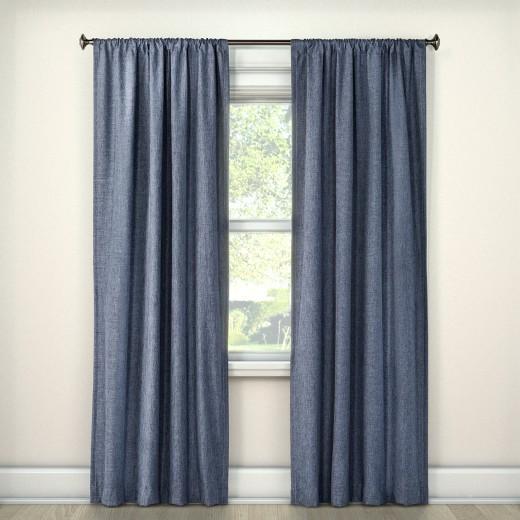 Lightblocking Curtain Panel Navy 42 Quot X84 Quot Room