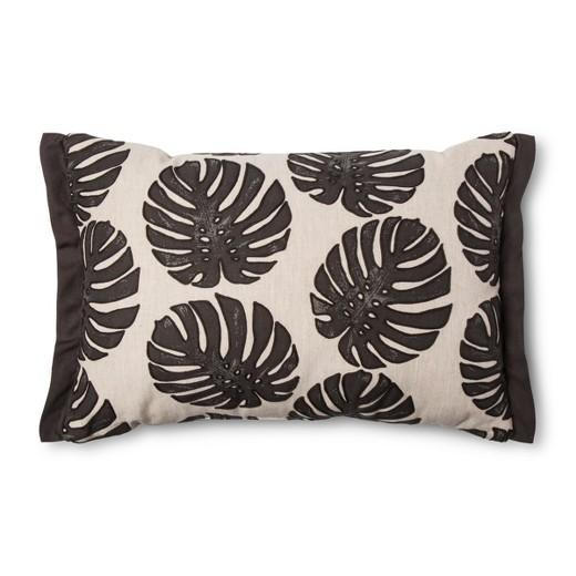 Brown Leaf Lumbar Pillow (20
