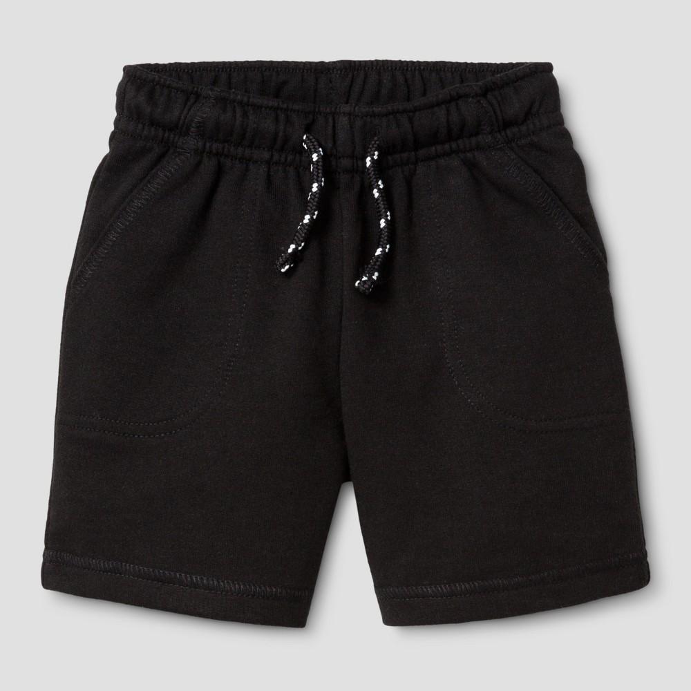 Baby Boys Lounge Shorts - Cat & Jack Black 18M, Size: 18 M