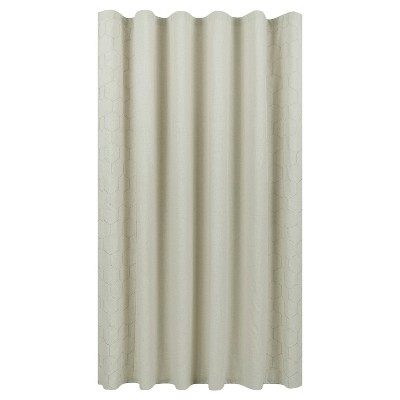 Honey Comb Embroidery Shower Curtain Sandalwood - Fieldcrest™