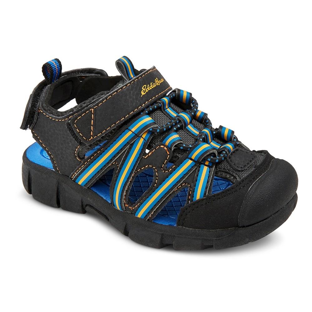 Toddler Boys Eddie Bauer Michel Double Strap Camp Fisherman Sandals - Black 8