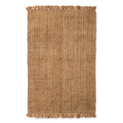 Tan Solid Woven Area Rug - (9'x12')
