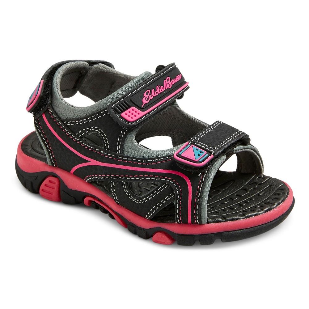 Toddler Girls Eddie Bauer Lorraine Quarter Strap Sandals - Black 9