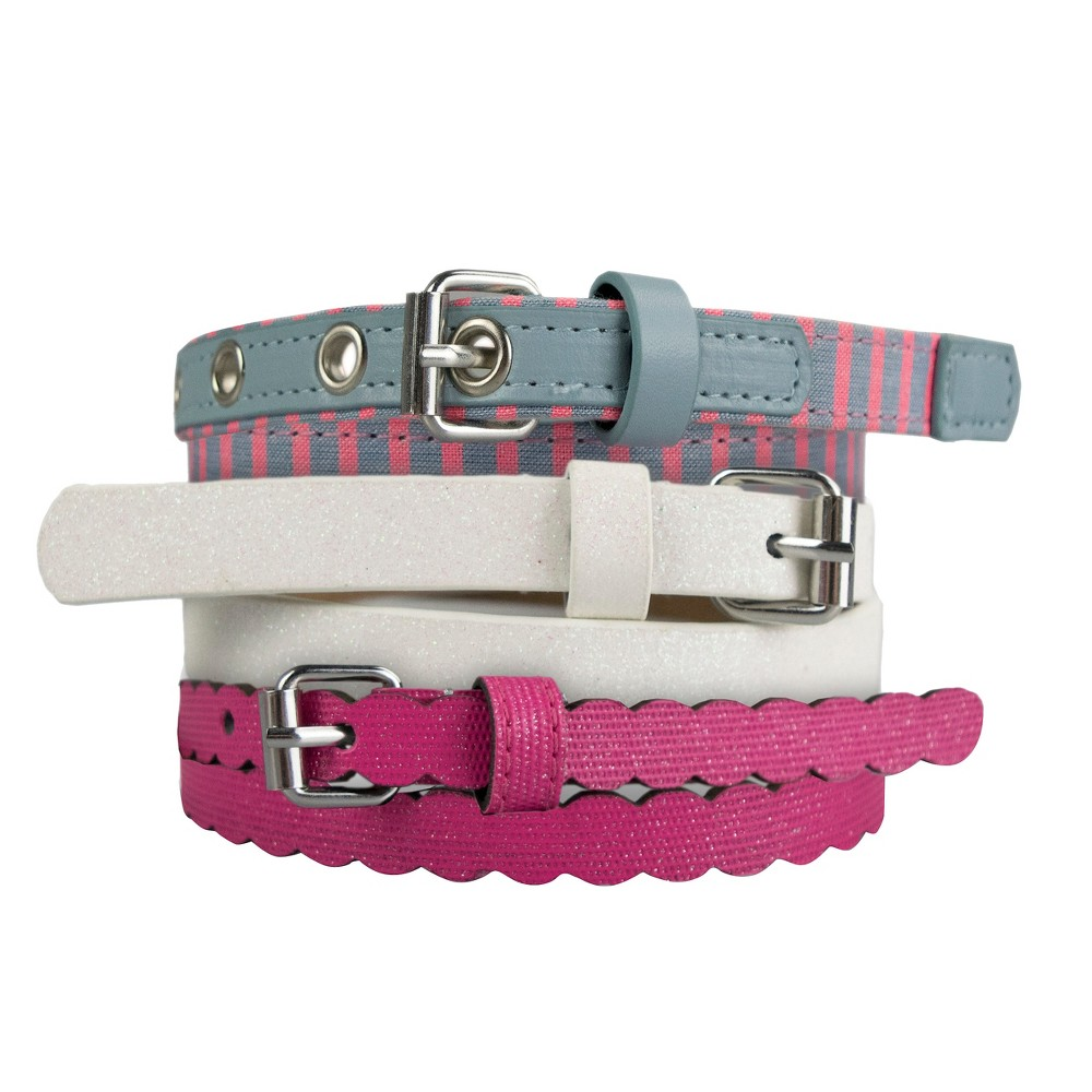 Girls 3-Pack Belt Set - Cat & Jack Multi-Colored S, Multicolored