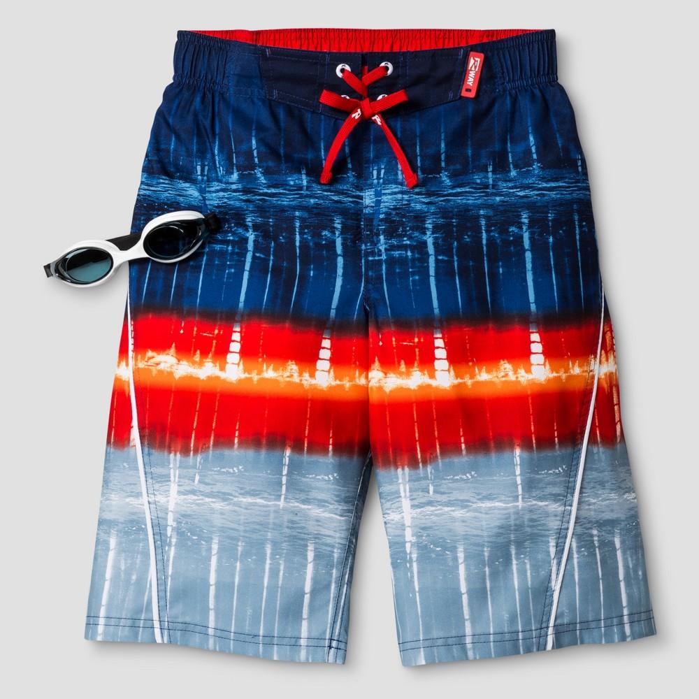 R-Way by ZeroXposur Boys Tie Dye Boardshort Navy S, Blue