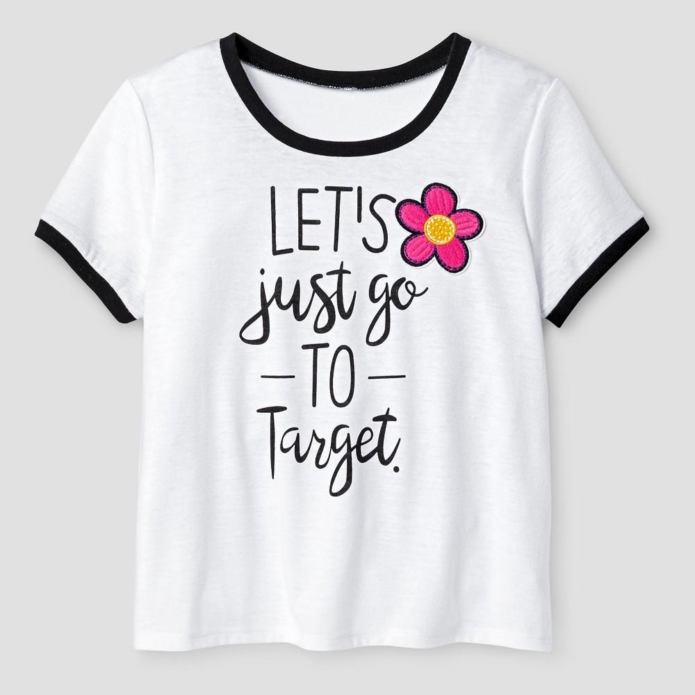 Girls' Ringer T-Shirt Art Class- White XS, Girl's