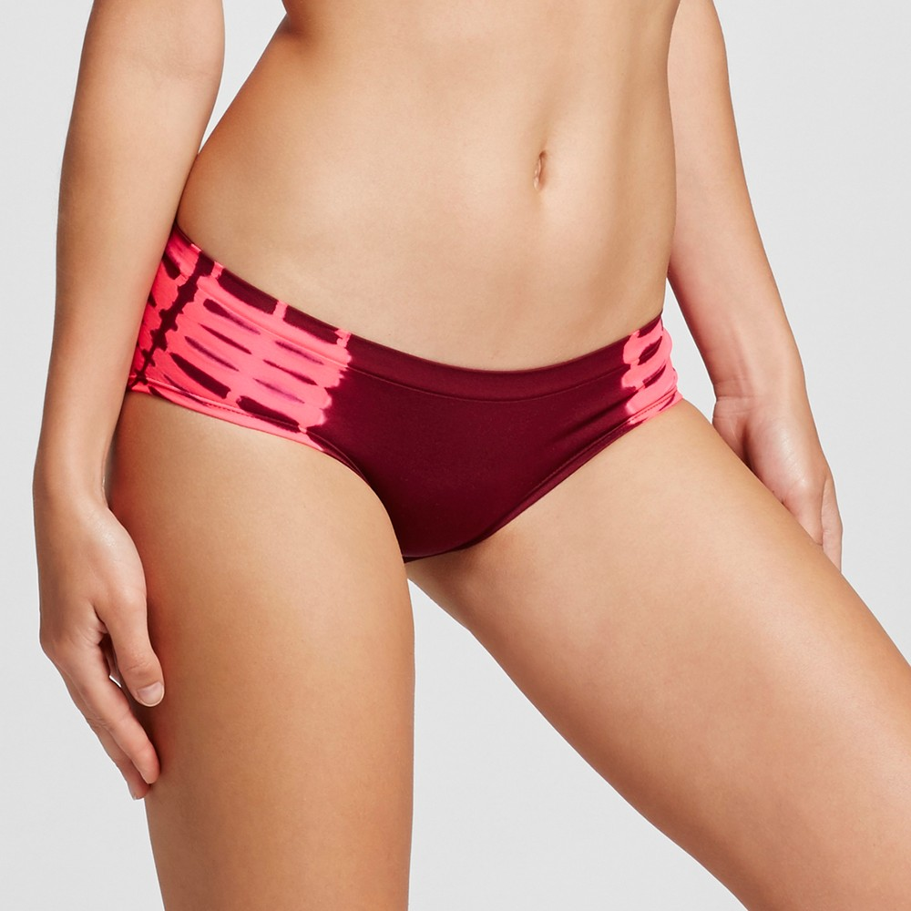 Womens Seamless Hipster - Xhilaration - Boysenberry Red and Pink Tie-Dye S