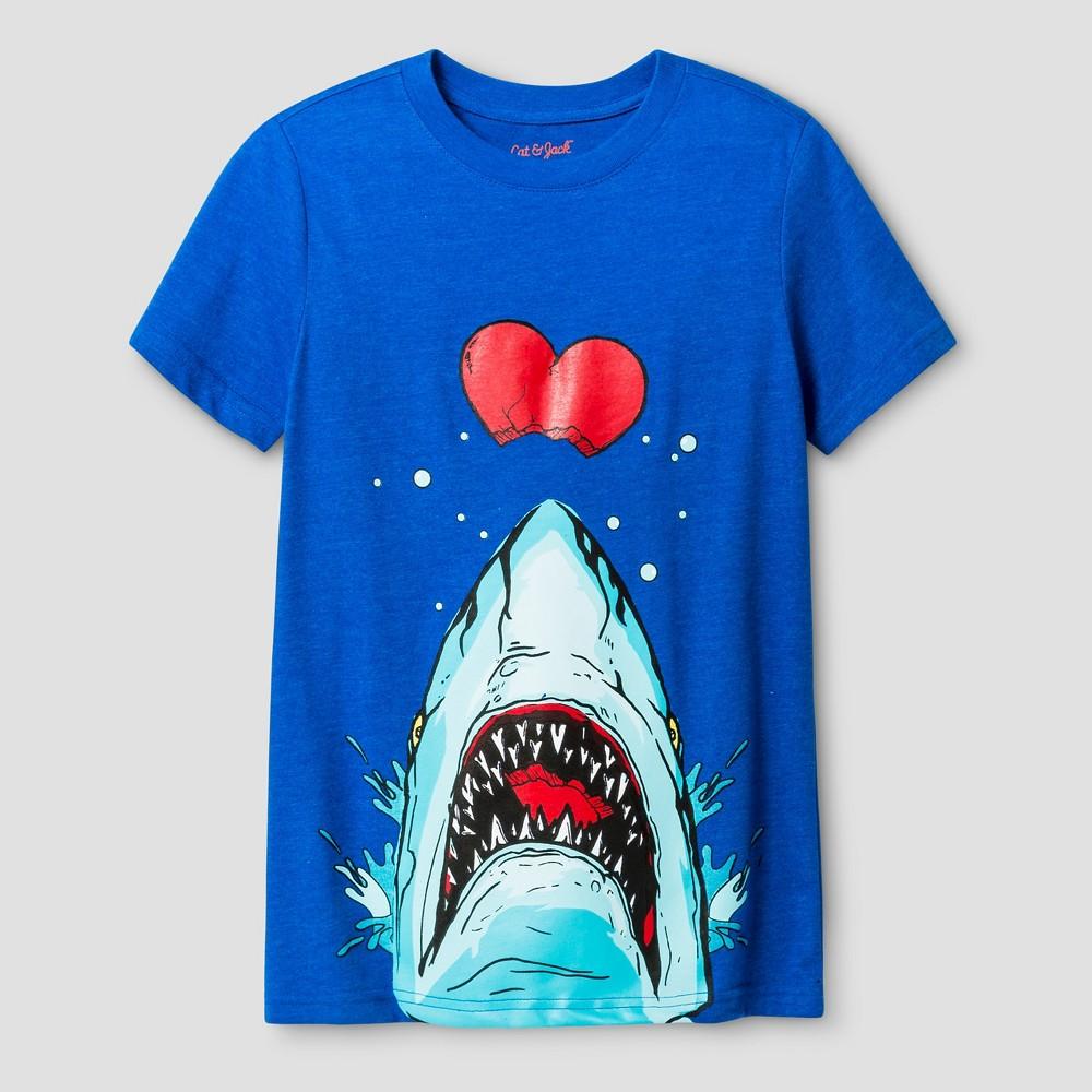Boys Shark Graphic T-Shirt - Cat & Jack Blue Xxl
