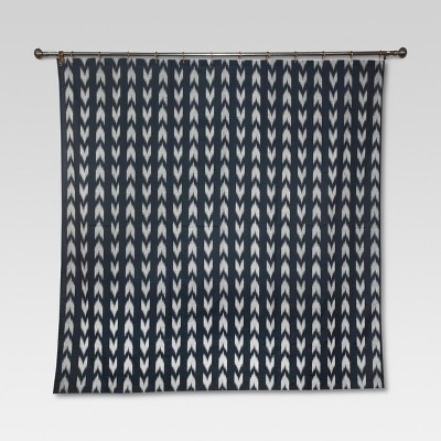 Ikat Look Shower Curtain Black (72 x72 )- Threshold™