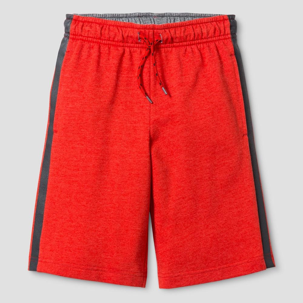 Boys Pull-On Shorts - Cat & Jack Heathered Orange Spark XS