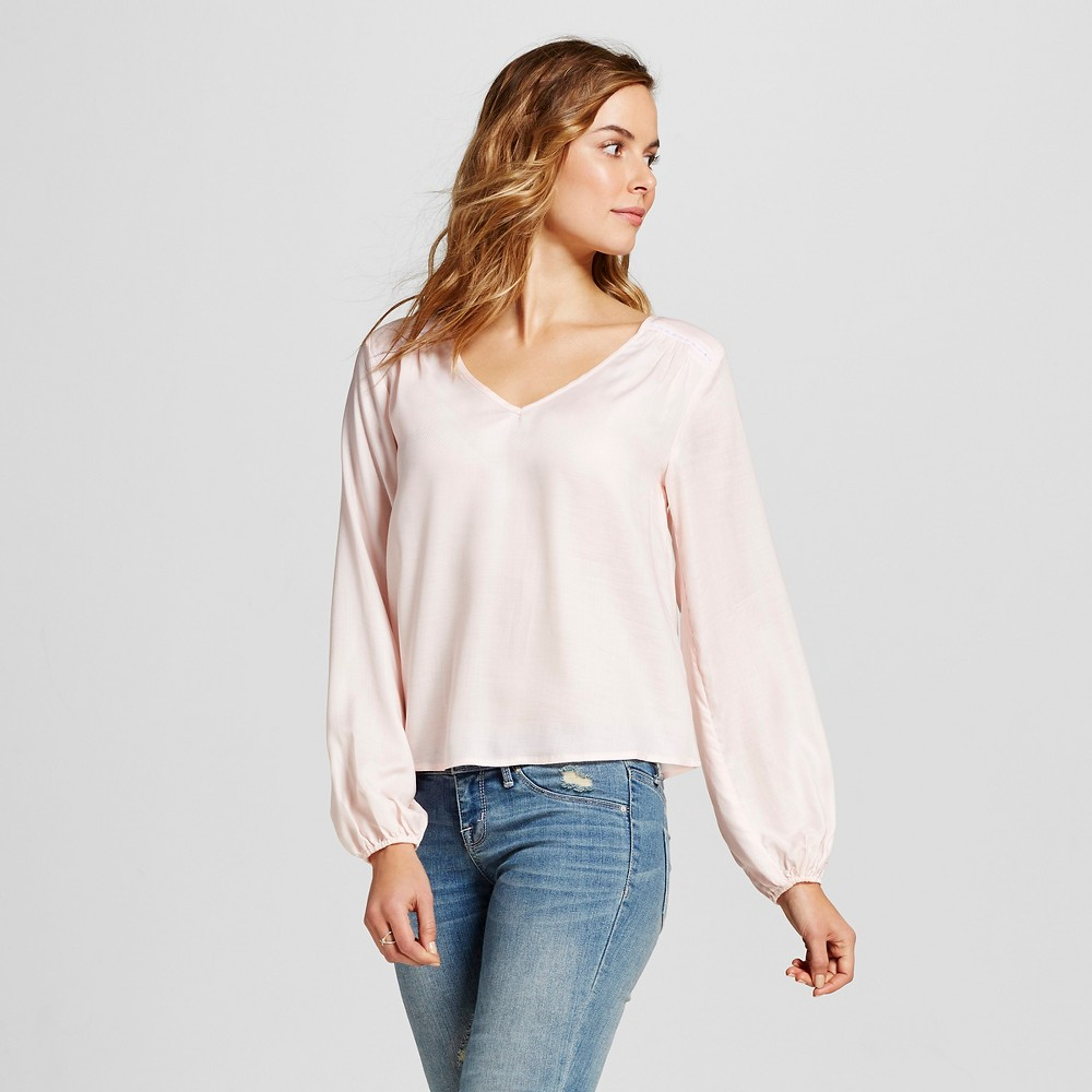 Womens Long Sleeve Blouse Charming Pink XL - Merona