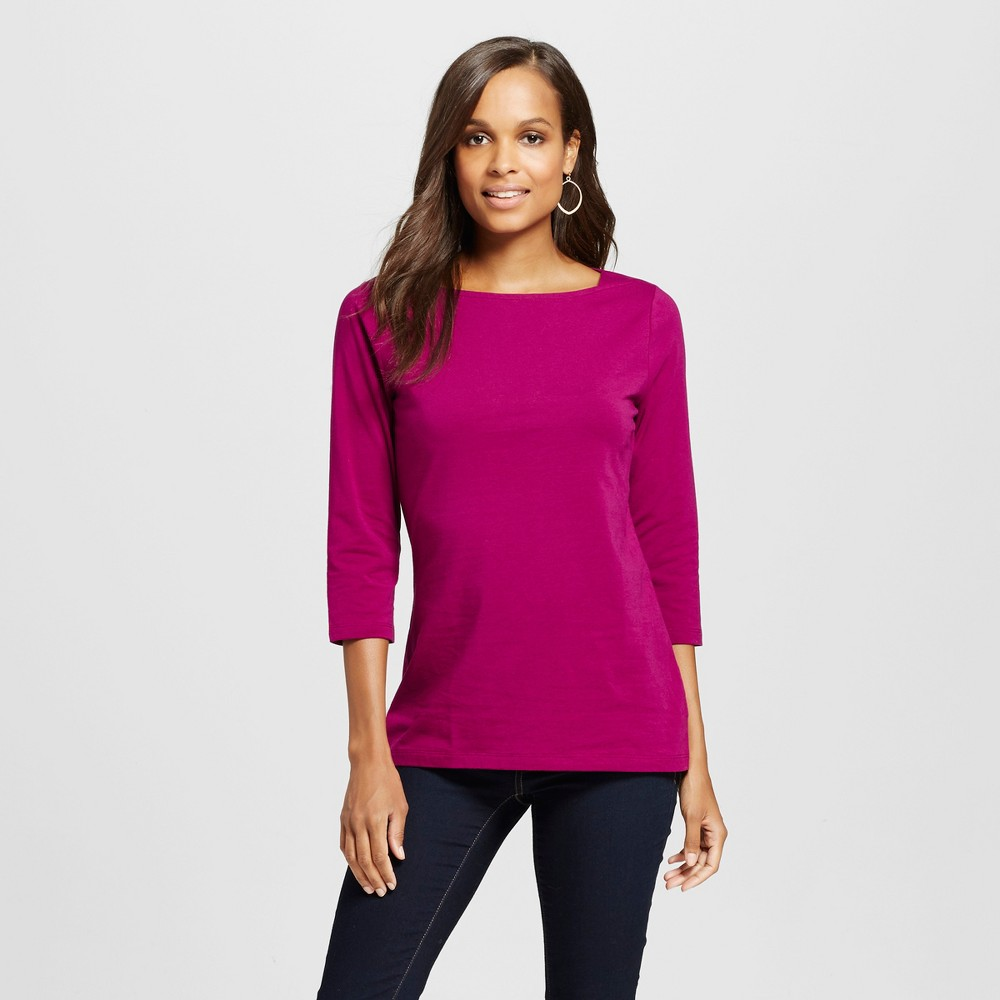 Women's Boatneck T-Shirt Haywire Purple XL - Merona