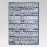 Outdoor Rug - Pattern Stripe Blue - Threshold. opens in a new tab.