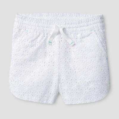 Toddler Girls' Fashion Shorts Cat & Jack™ - White 12 M