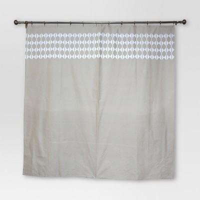 Solid Base With Chain Stitch Shower Curtain (72 x72 )Brown - Threshold™