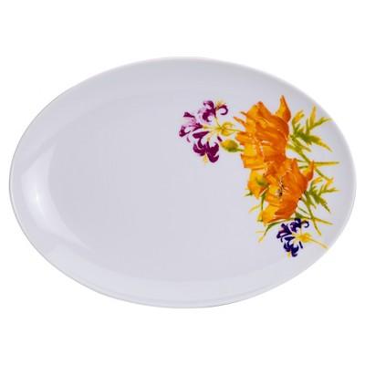 Euro Ceramica® Serving Platter 14  Tiger Lily