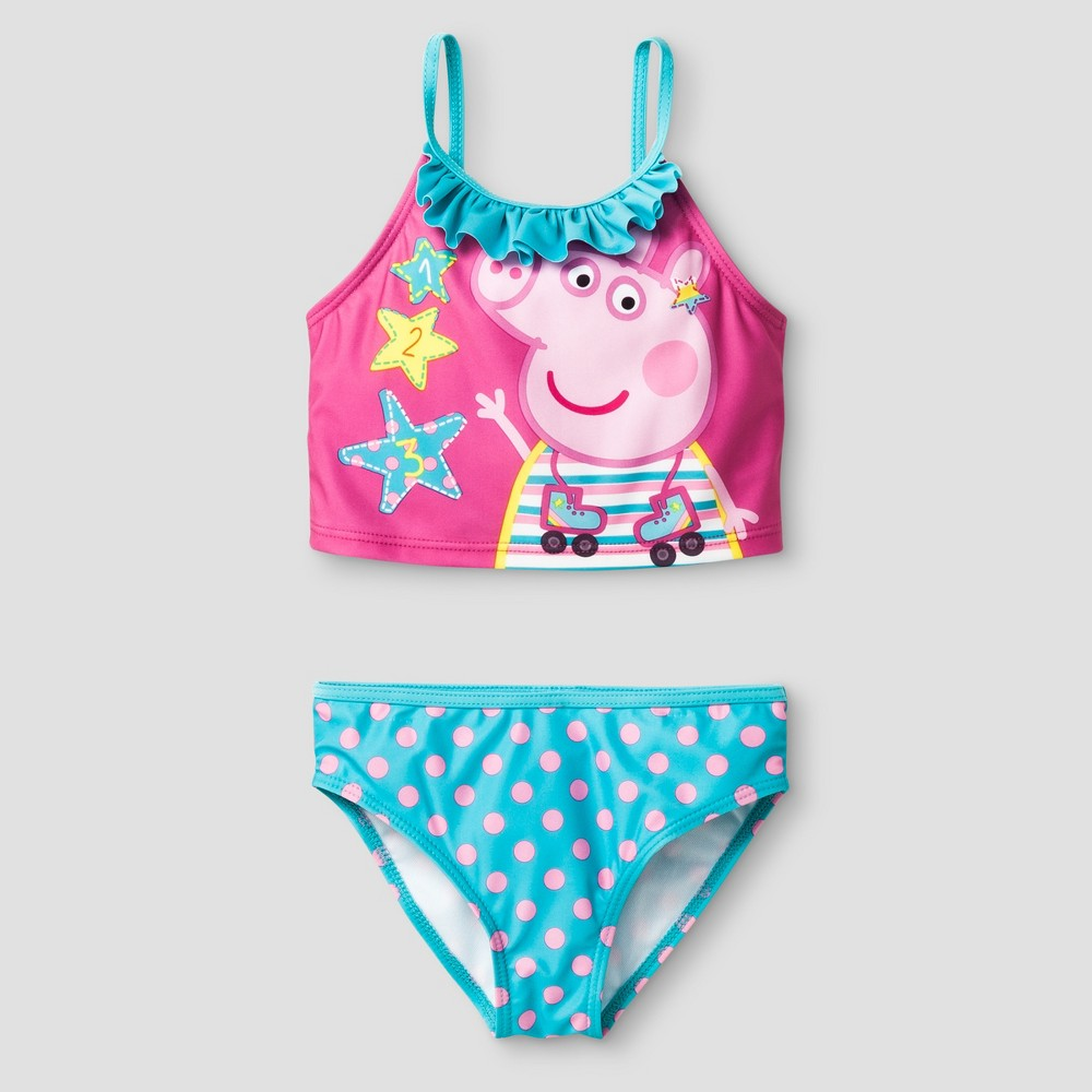 Girls Peppa Pig Tankini - Pink 5/6