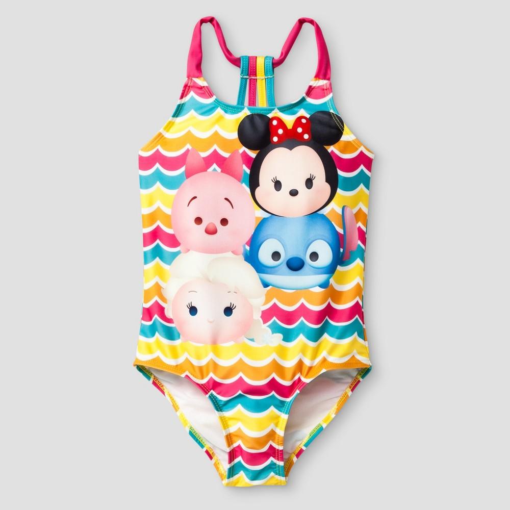 Girls Tsum Tsum One Piece Swimsuit - Pink 4