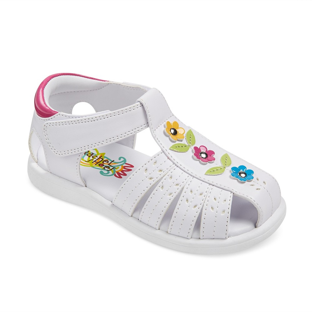 Toddler Girls' Rachel Shoes Paisley Floral Fisherman Sandals - White 6
