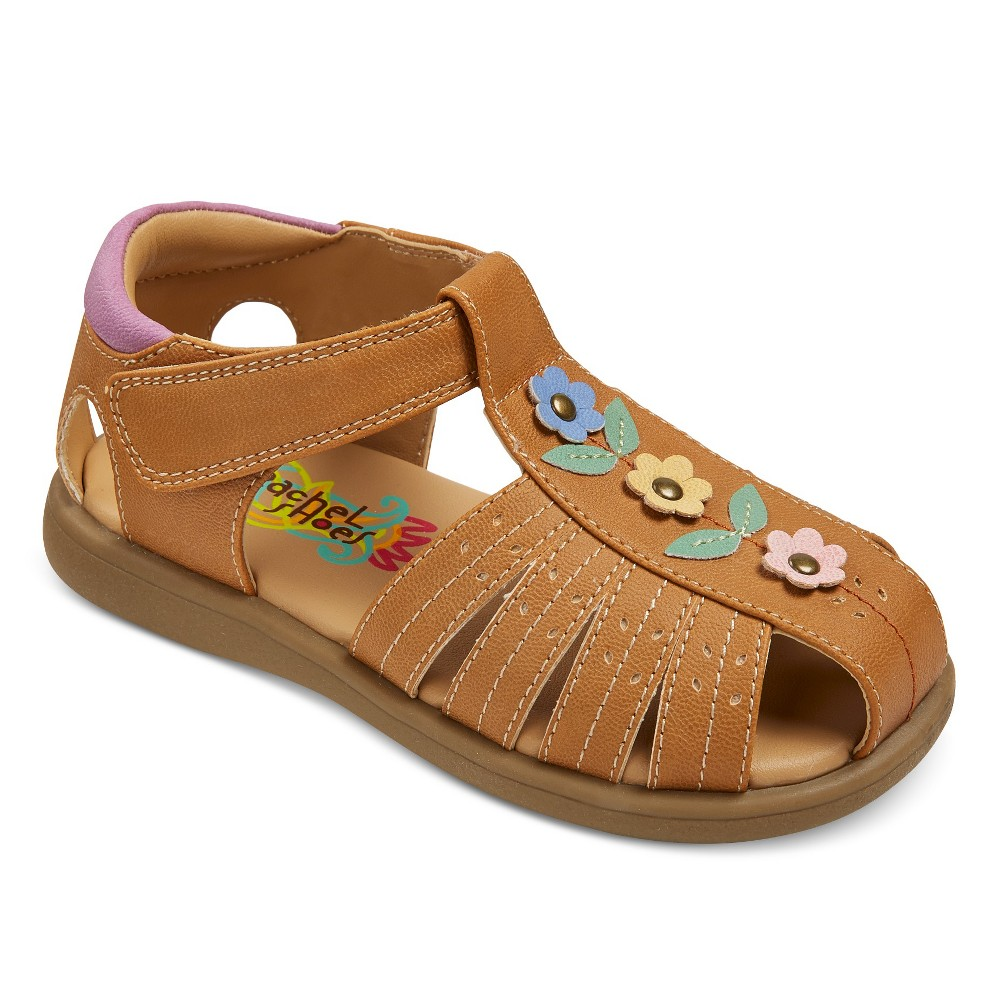 Toddler Girls Rachel Shoes Paisley Floral Fisherman Sandals - Tan 10