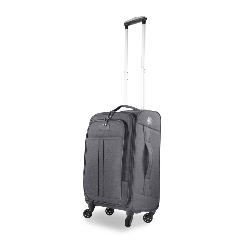 "Verrazano 20"" Spinner Carry On Luggage - Anthracite Gray, Dark Grey"