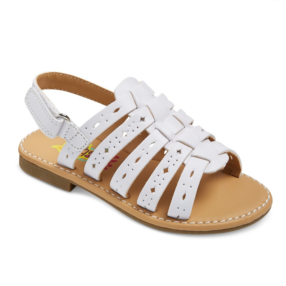Toddler Girls' Rachel Shoes Lil Petra Quarter Strap Sandals - White 9