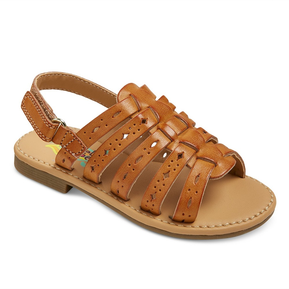 Toddler Girls Rachel Shoes Lil Petra Quarter Strap Sandals - Tan 10