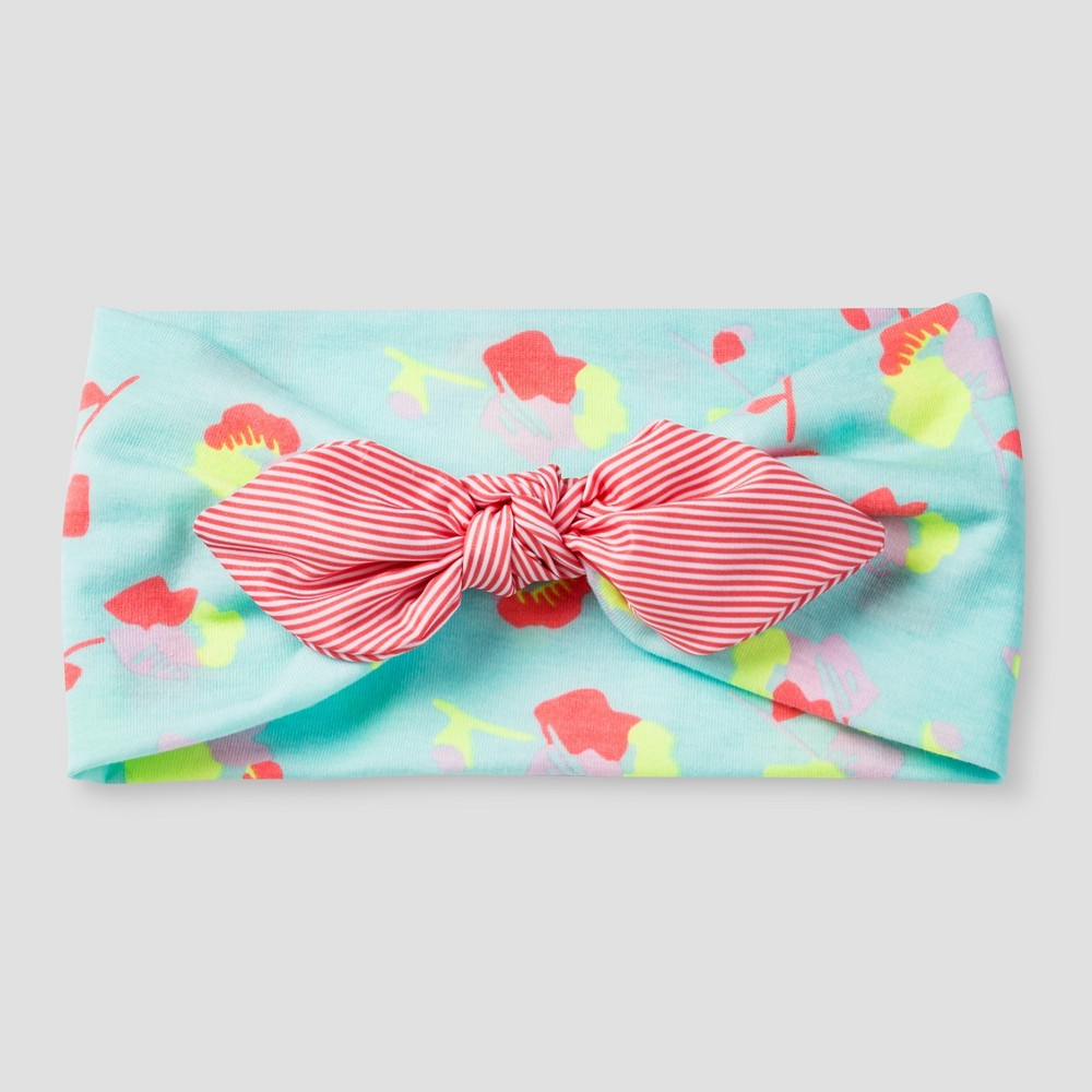 Girls Stretch Bow Headband - Cat & Jack Mint, Multi-Colored