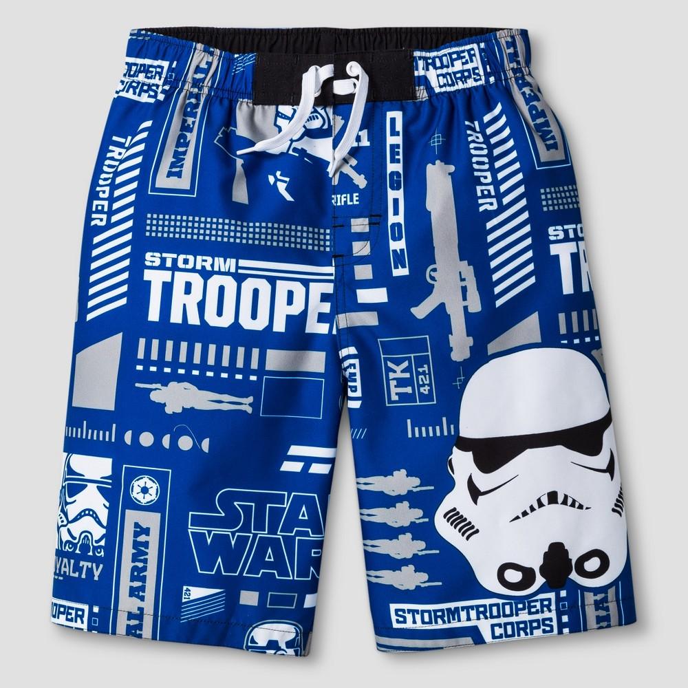 Boys Star Wars Swim Trunk - Stormtrooper - Blue L
