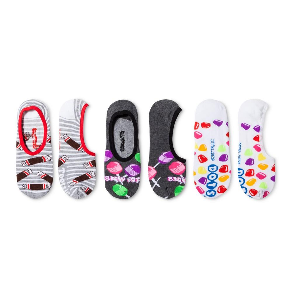 Tootsie Roll Womens Candy 3pk Liner Socks - White 9-11