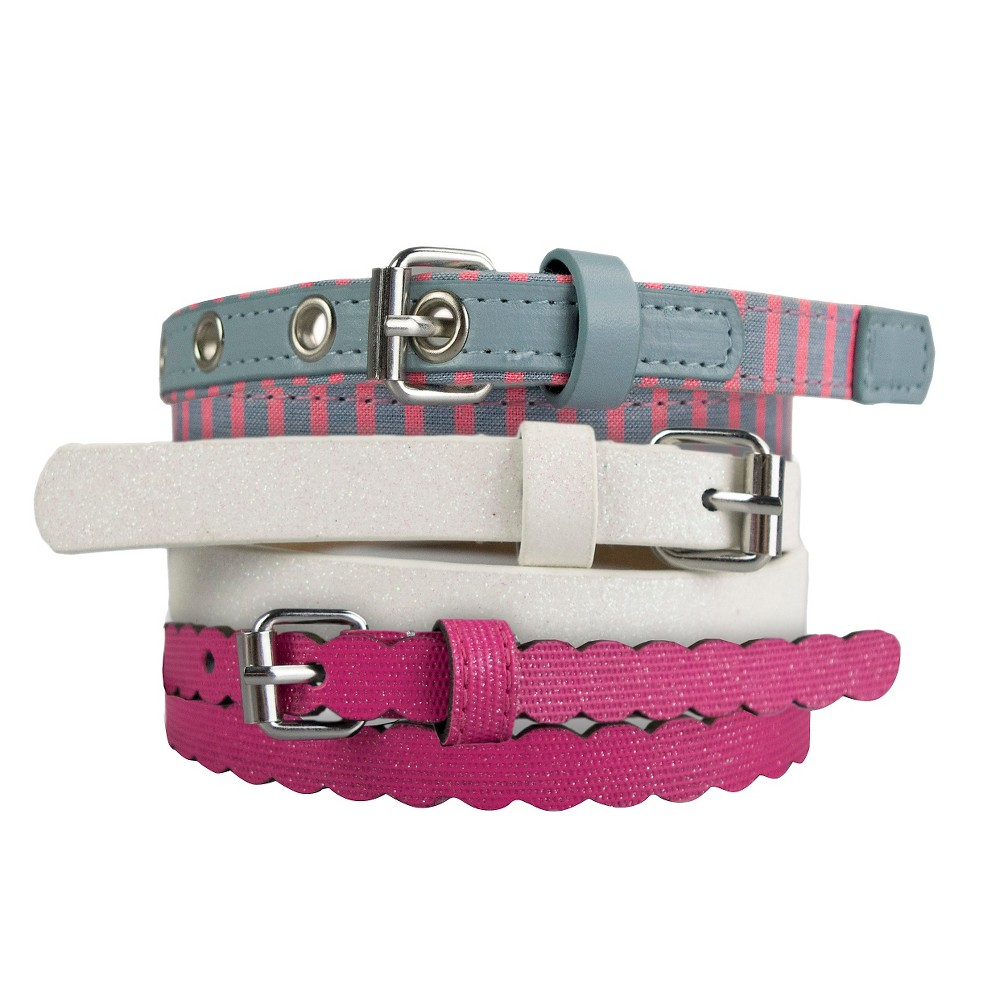 Girls 3-Pack Belt Set - Cat & Jack Multi-Colored M, Multicolored