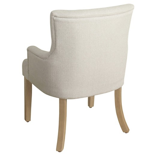 Logan Tufted Accent Chair With Arms Ash Homepop Target