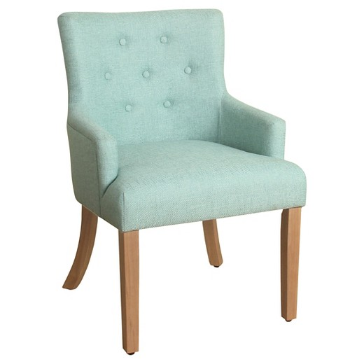Logan Tufted Accent Chair with Arms Carribean Blue
