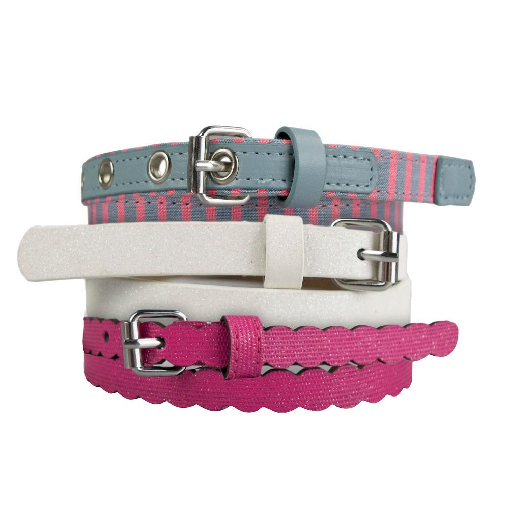 Girls 3-Pack Belt Set - Cat & Jack Multi-Colored L, Multicolored