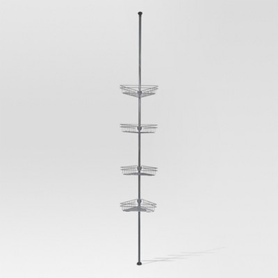 Rust Resistant Tension Shower Caddy Satin Nickel - Threshold™