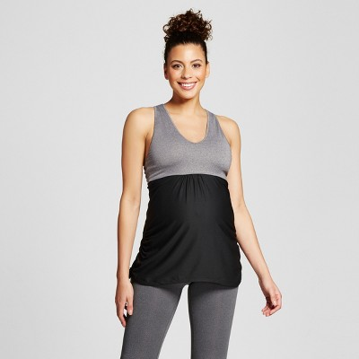 Maternity Fit & Flare Tank Top - C9 Champion® - Dark Gray Heather L