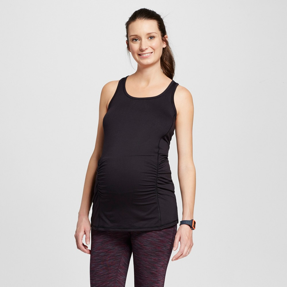 Maternity Performance Long Tank Top - C9 Champion - Black L, Women's