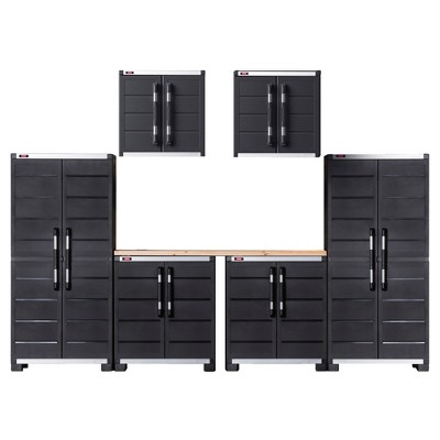 XL Pro Ready-to-Assemble Garage Storage Cabinet Set - Black - Keter