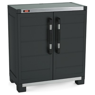 XL Pro Ready To Assemble Garage Storage Cabinet Set   Black   Keter