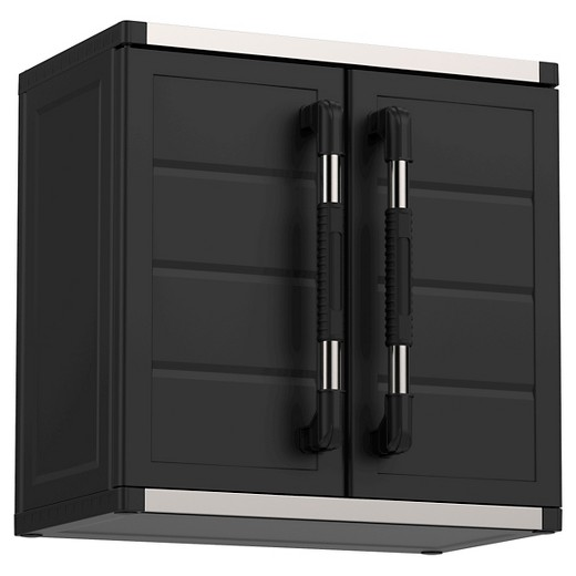 Black Wall Cabinet xl pro ready-to-assemble garage storage cabinet set - black