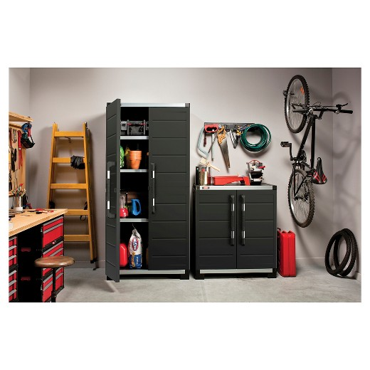 XL Pro ReadytoAssemble Garage Storage Cabinet Set Black – Ready to Assemble Bookcase
