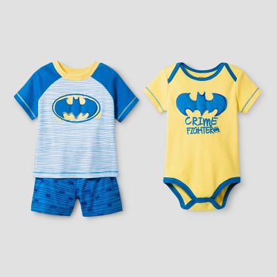 Baby Boys' 3pc Batman Short Set Turquoise - Warner Bros.® 0-3Months