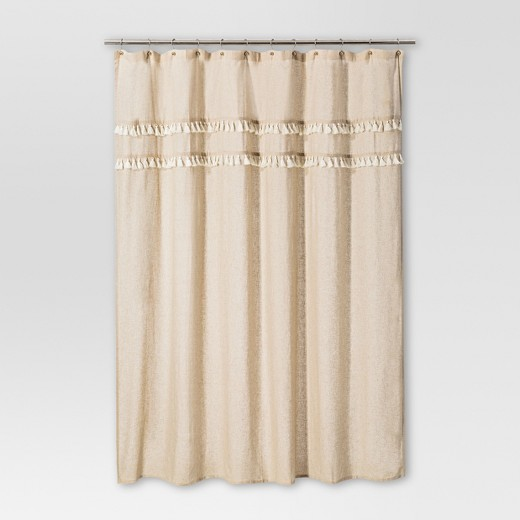 beige and brown shower curtain. Shapes Solid Shower Curtain Brown Linen  Threshold Curtains Liners Target