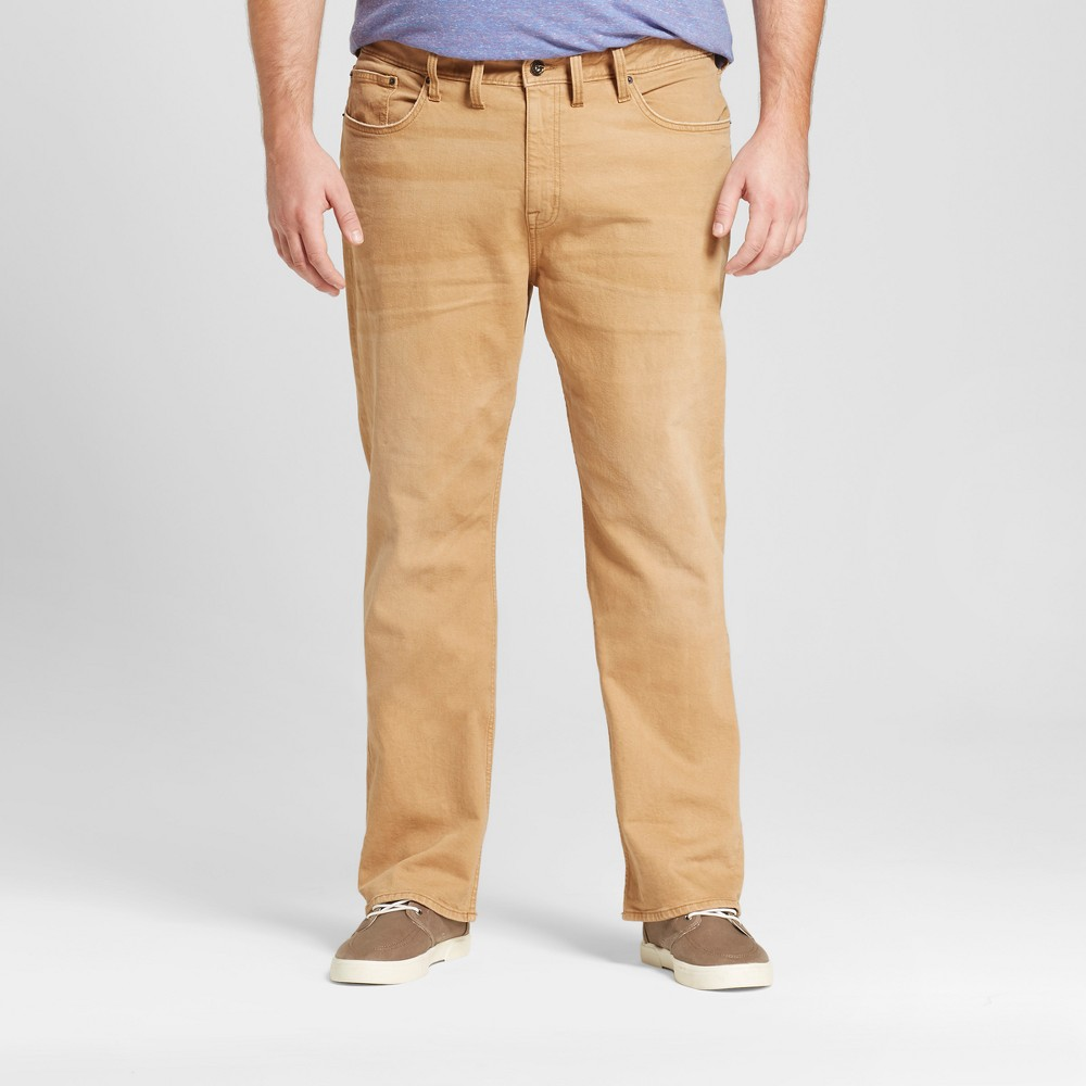 Mens Big & Tall Straight Fit Jeans - Mossimo Supply Co. Khaki 54x32, Beige