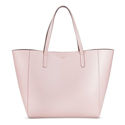 Women's Reversible Faux Leather Tote Handbag - Merona™ Pink