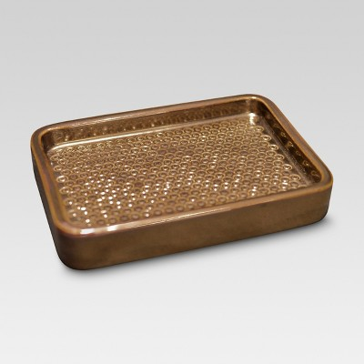 Ceramic Glazed Soap Dish - Brown - Threshold™