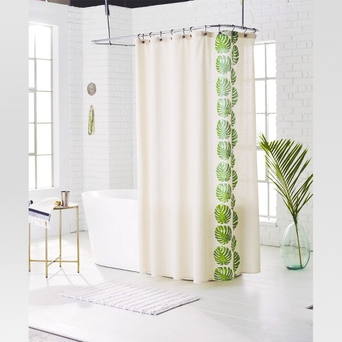 Leaf Shower Curtain Green Grapes