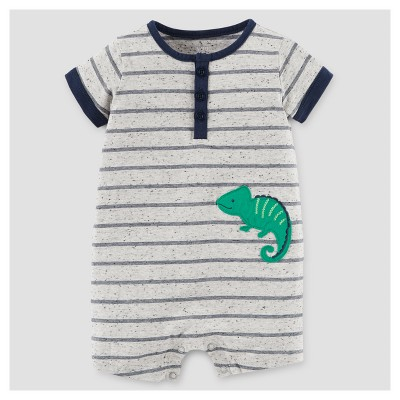 Baby Boys' Lizard Romper - Just One You™ Made by Carter's® Gray/Black Stripe 3M