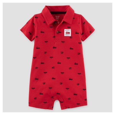 Baby Boys' Mommy's Hero Romper - Just One You™ Made by Carter's® Red 12M