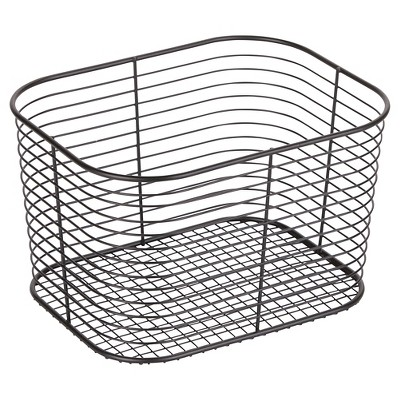 Wire Bathroom Vanity Basket (Large)Black - Room Essentials™